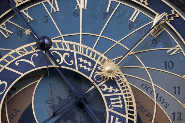 Foto di Close-up of the Astronomical ClockOrologio Astronomico di Praga - Repubblica Ceca