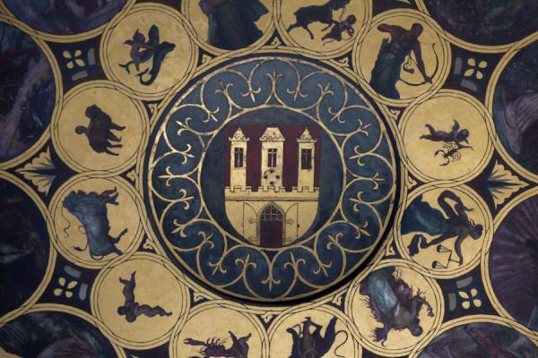 Photo de République tchèque (Signs of the zodiac around Prague Castle, surrounded by rural scenes of the seasons)