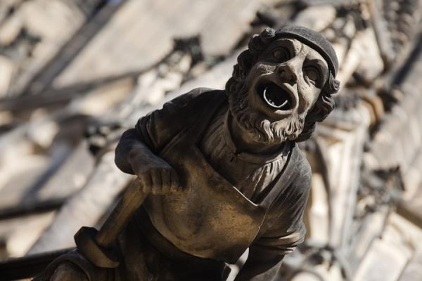 Close-up of headed water guider on St. Vitus Cathedral | Praga | Repubblica Ceca