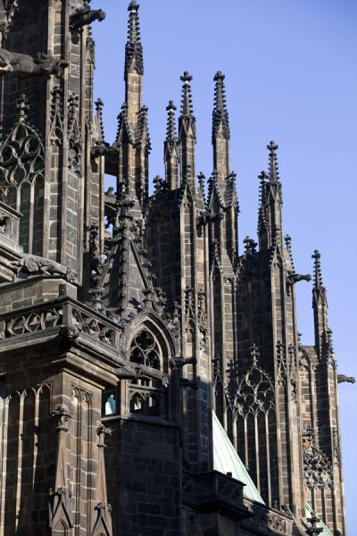 Detail of Gothic St. Vitus Cathedral | Prague Castle | Czech Republic