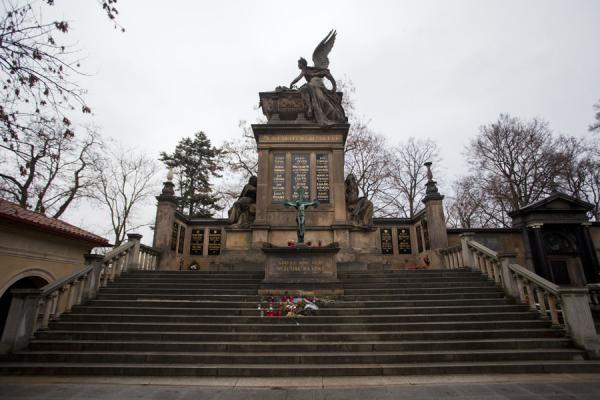 Picture of Vyšehrad cemetery (Czech Republic): Famous Czech figures from the worlds of art and science, are buried at the Slavín pantheon