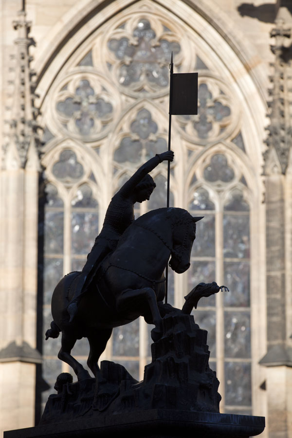Picture of Statue of St. George and the dragon in the third courtyard of Prague CastlePrague - Czechia