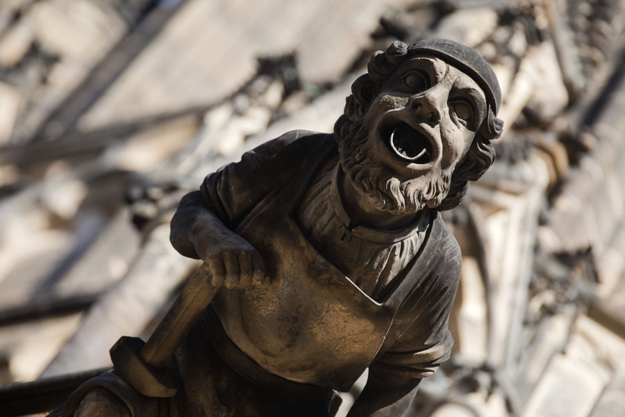 Picture of Close-up of headed water guider on St. Vitus CathedralPrague - Czechia
