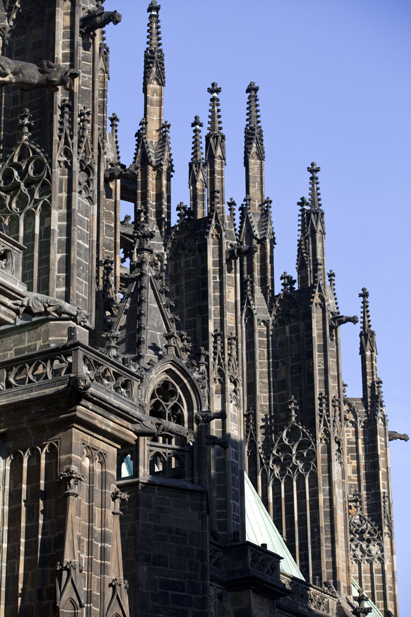 Picture of Detail of Gothic St. Vitus CathedralPrague - Czechia