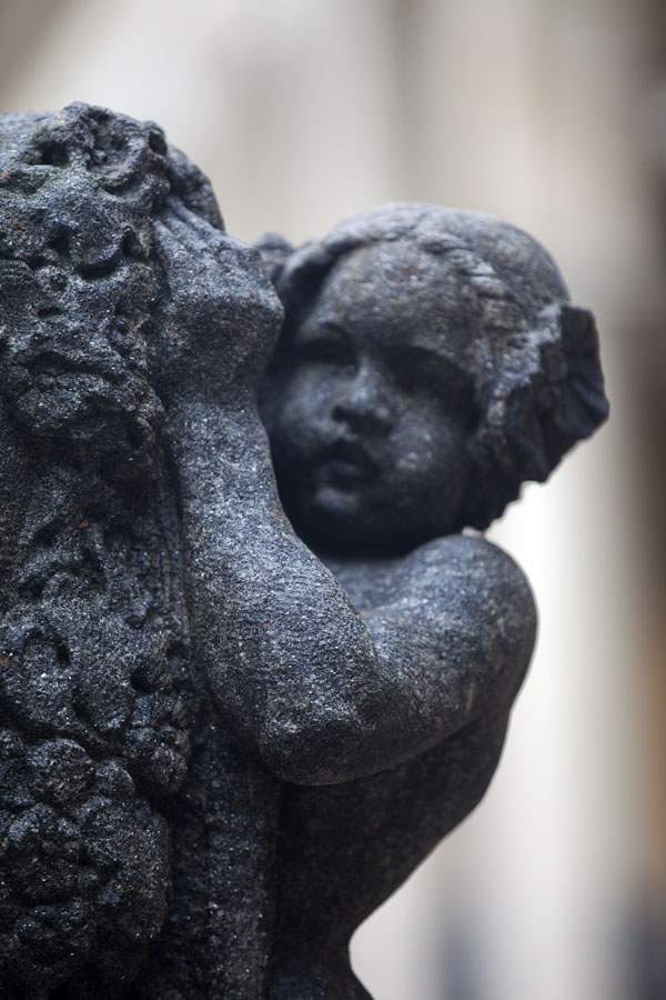 Picture of Sculpture of child at a tombstone of Vyšehrad cemeteryPrague - Czechia