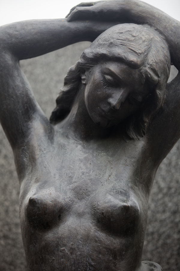 Picture of Statue of nude woman in Vyšehrad cemeteryPrague - Czechia