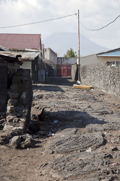 Street with lava rock in Goma | Goma | Democratic Republic Congo