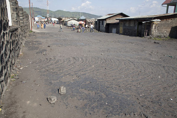 Street consisting of lava rock in Goma | Goma | Democratic Republic Congo