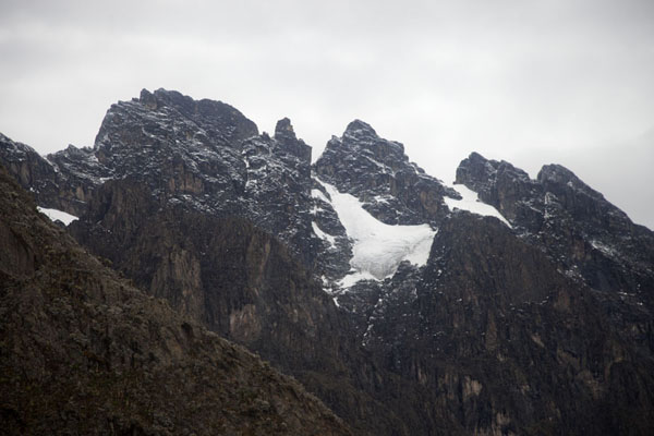 View of the peaks of the Mount Stanley range: Alexandra, Moebius, Helena, and Savoia | Rwenzori Mountains | Democratic Republic Congo