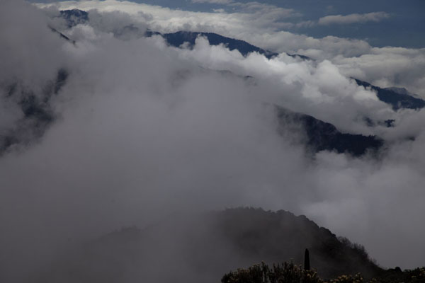 Clouds over the Rwenzori mountains | Montagnes Rwenzori | Rep. Démocratique du Congo