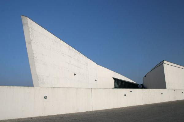 Part of the Arken building near the main entrance | Arken Museum | Denmark