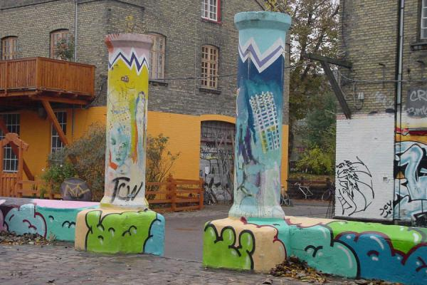 Colours brighten up some darker areas of Christiania | Christiania | Denmark