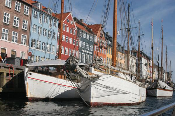 Picture of Copenhagen Waterfront (Denmark): Copenhagen: ships in Nyhavn