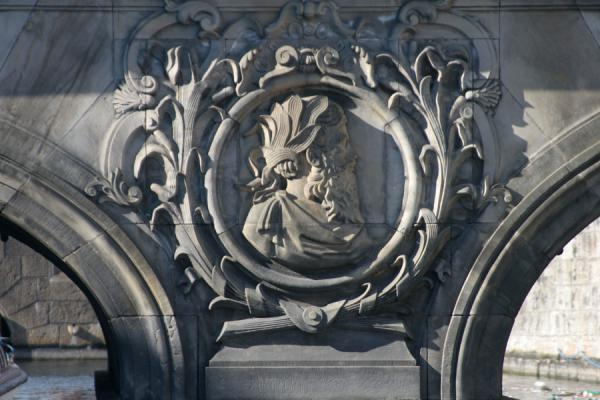 Photo de Detail of bridge at SlotsholmenCopenhague - le Danemark