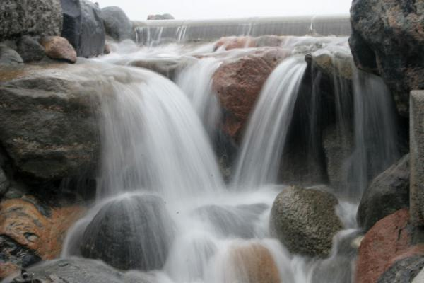 Picture of Gefion fountain (Denmark): Detail of waterfall at Gefion fountain