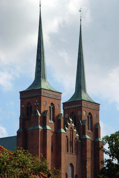 Picture of Roskilde (Denmark): Towers of Roskilde's cathedral from a distance