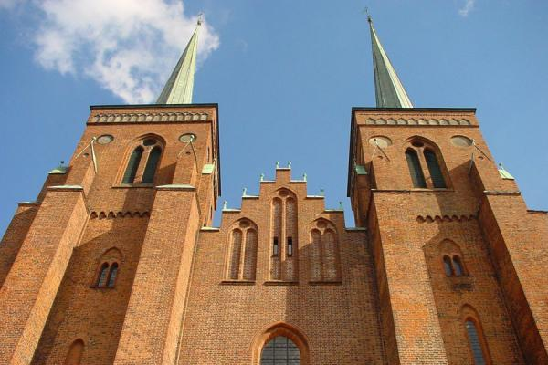 Picture of Roskilde (Denmark): The two towers of the Cathedral in Roskilde
