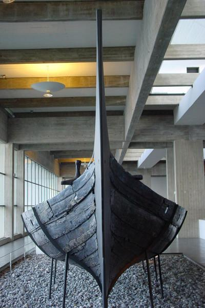 Picture of Viking ship in Vikingship museum, Roskilde