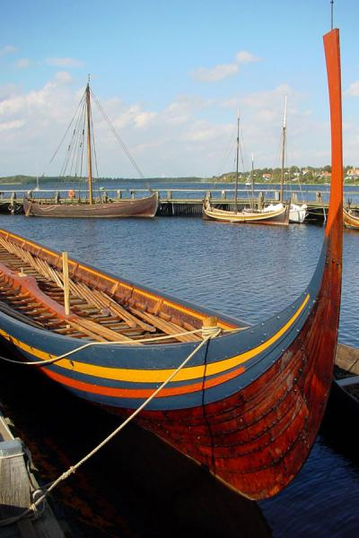 Picture of Roskilde (Denmark): Reconstructed Viking ship in Roskilde