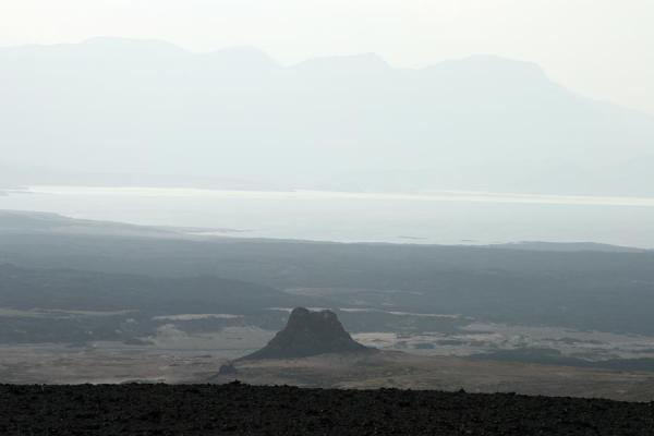 Volcano with Lac Assal in the background | Ardoukoba Volcano | Djibouti