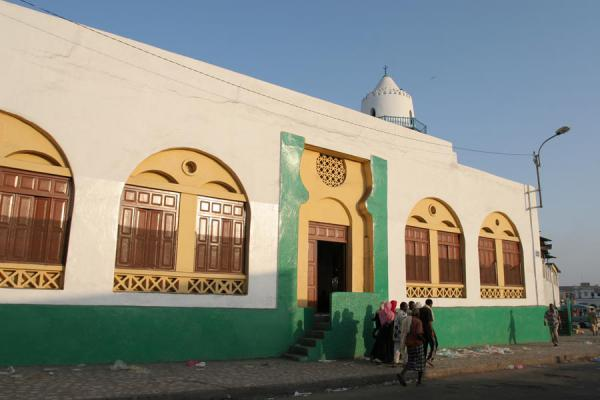 Picture of Grand Mosque of Djibouti town in the light of dusk