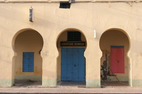 Arched walls with colourful doors | Djibouti town | Djibouti