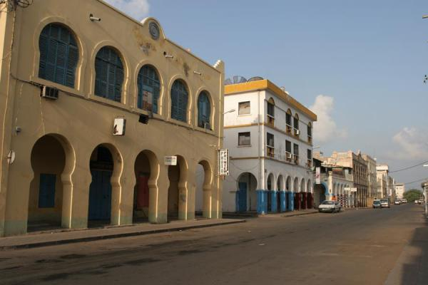 Picture of One of the quiet streets of the European quarterDjibouti - Djibouti
