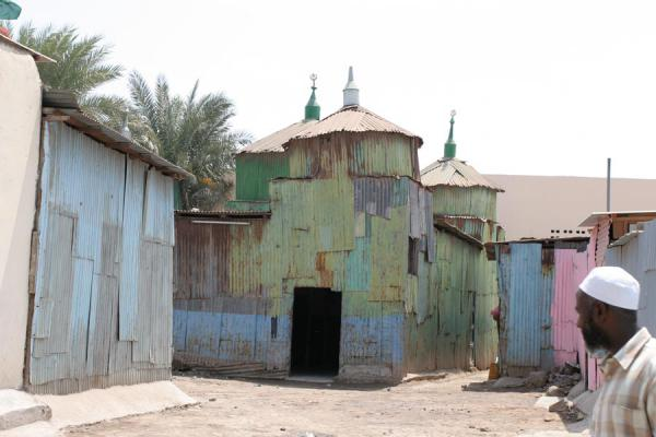 Picture of Islamic building made by corrugated iron - Djibouti - Africa