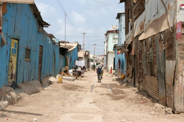 Picture of Street in the African quarter in Djibouti ville - Djibouti - Africa