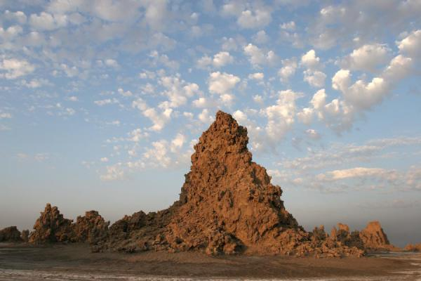 Limestone chimney in Lac Abbé just after sunset | Lac Abbé | Djibouti