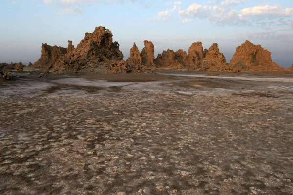 Picture of Lac Abbé: chimneys - Djibouti - Africa