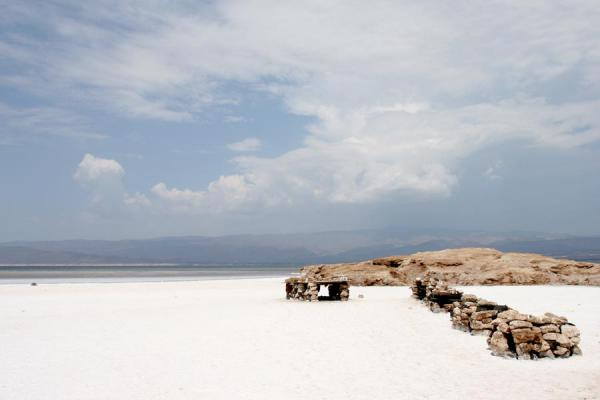 Small island right off the shore of Lac Assal | Lac Assal | Djibouti