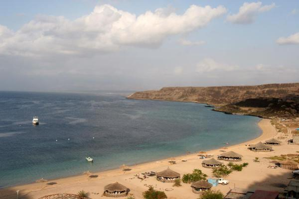 Sable blanc beach seen from above | Sable Blanc | Djibouti