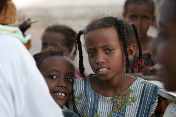 Picture of Girl in a koran school in the streets of Tadjoura - Djibouti - Africa