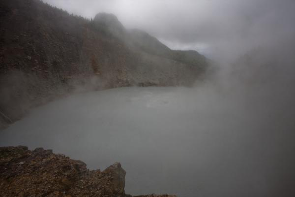 Picture of Boiling water in the Boiling Lake with clouds - Dominica - Americas