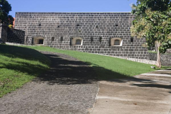 Picture of One of the thick walls of Fort Shirley