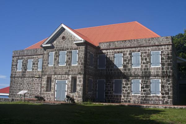 One of the reconstructed buildings in the Fort Shirley complex | North Dominica | Dominica