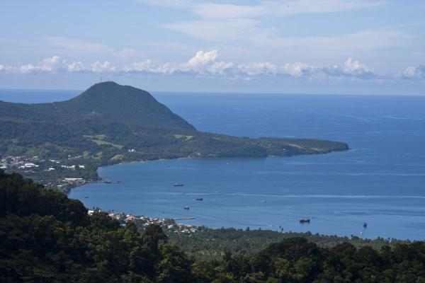 View over the bay of Portsmouth seen from atop a mountain | North Dominica | Dominica