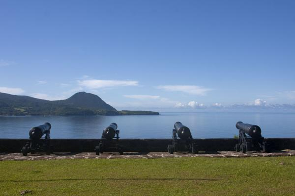 Picture of Cannons pointing south from Fort ShirleyNorth Dominica - Dominica