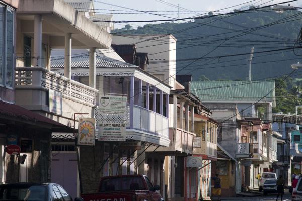 Foto de Morning light on houses in RoseauRoseau - Dominica