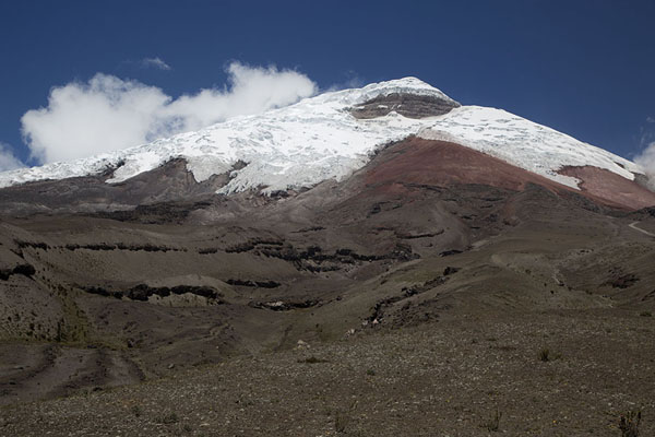 Picture of The rugged slopes of Cotopaxi seen from the north side - Ecuador - Americas