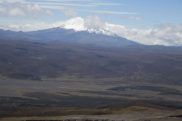 Picture of Snowy Antisana volcano seen from the slopes of Cotopaxi - Ecuador - Americas