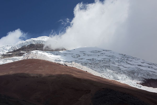 Glacier covering the volcanic cone of Cotopaxi | Cotopaxi | 厄瓜多尔