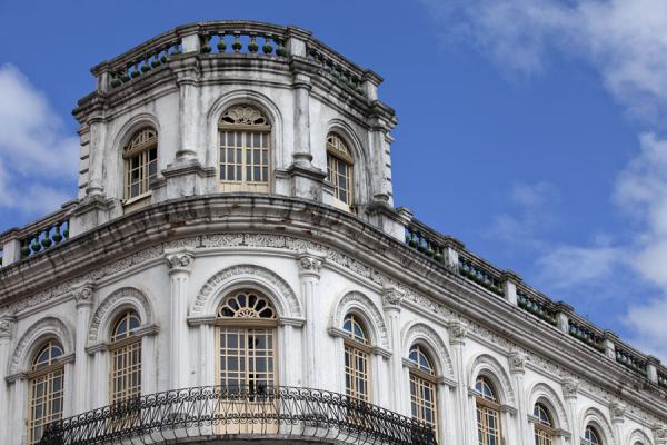Stately corner building on the Plaza Grande in Cuenca | Cuenca old city | Ecuador