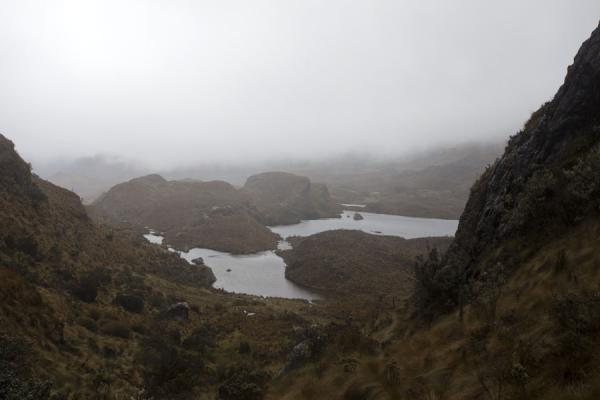 View over lagoons and incoming clouds over El Cajas | Parco Nacional El Cajas | Ecuador