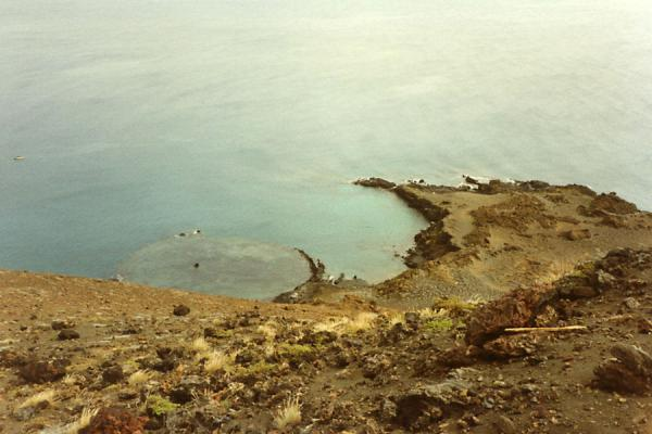 Picture of Galápagos Islands (Ecuador): Seashore with small crater