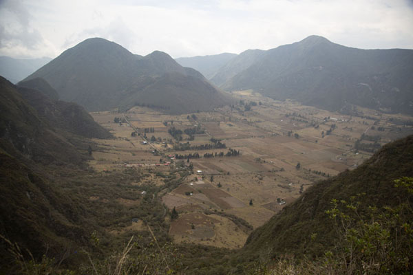 Picture of View of the Pululahua caldera from the Ventanillas viewpoint