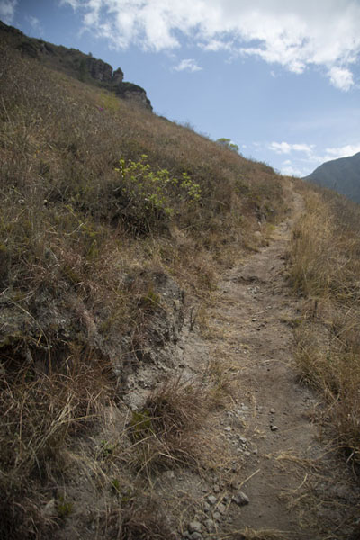Foto van Trail leading up to Cerro PondoñaPululahua - Ecuador