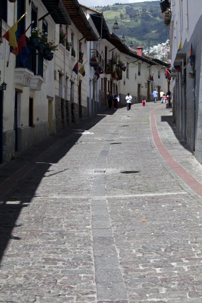 Foto di Street in the old city centre of QuitoCittà vecchia di Quito - Ecuador
