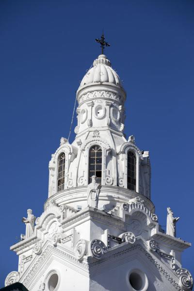 Picture of White bell tower of the Catedral Metropolitana of Quito - Ecuador - Americas